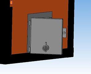 дверка для твердотопливного котла.