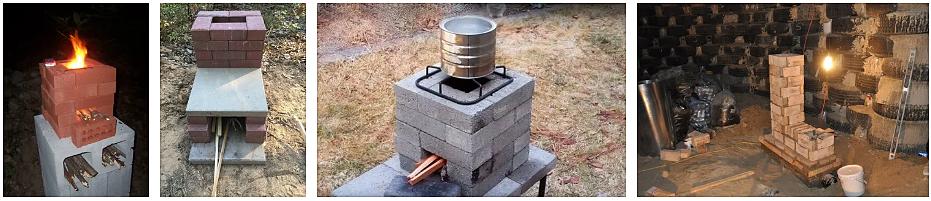 печь ракета из кирпича