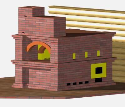 Проект печи- Русская печь в доме
