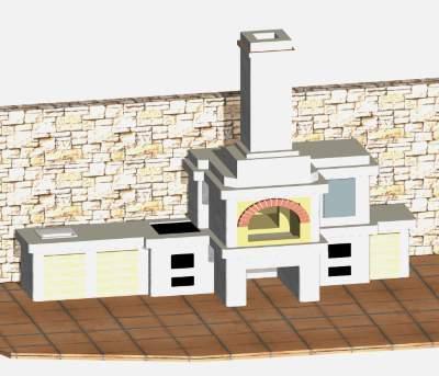 Порядовка барбекю с русской печью и коптилкой