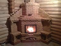 Угловая печь камин построена в Перми
