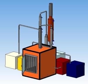 Пиролизная печь была разработана на основе готового патента